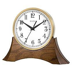 Bulova B5406 Mariner Tabletop Clock Brown Cherry/Gold