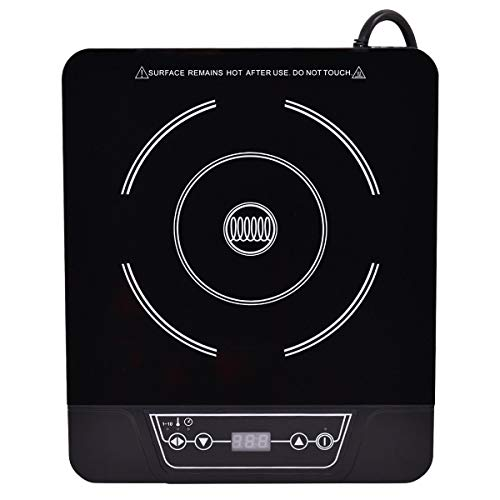 Safeplus Single Electric Cooker 1800W Portable Induction Cooktop Countertop Burner (Black) Review
