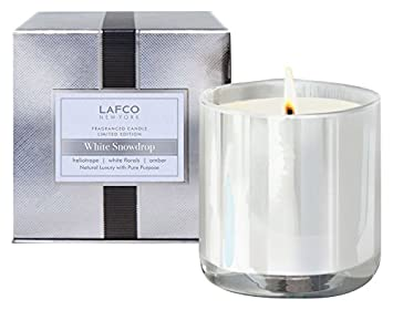 Amazoncom Lafco White Snowdrop Candle Signature 155 Oz Luxury