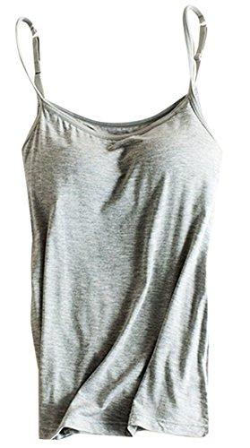 Ezcosplay Costumes (OyTas Women's Padded Active Vest Camisole Tanks Tops Vest)
