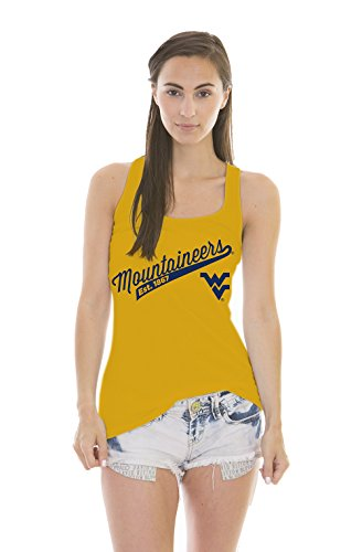 Wests Tigers (NCAA West Virginia Mountaineers Women's Holly Jackie Jersey Tank Top, Tiger Gold, Large)