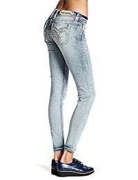Rock Revival Light Wash Womens Rona Skinny Jeans Denim