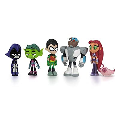 """Teen Titans Go Teen Titans Action Figure (6-Pack), 2"""": Toys & Games"""