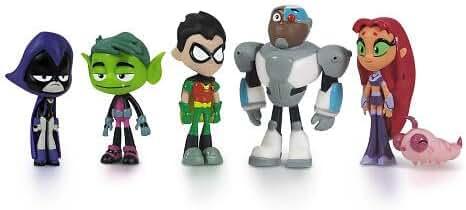 Teen Titans Go Teen Titans Action Figure (6-Pack), 2