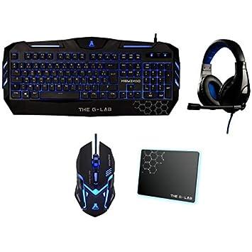 The G-Lab 4160044314 - Teclado Pack Gaming con ratón, Alfombrilla y Cascos: Amazon.es: Informática