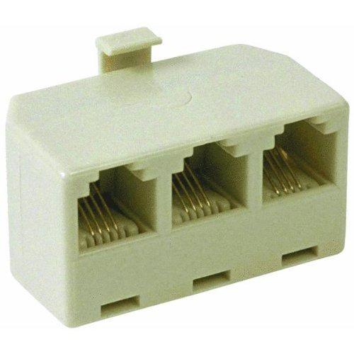 Ivory Telephone Splitter Adapter