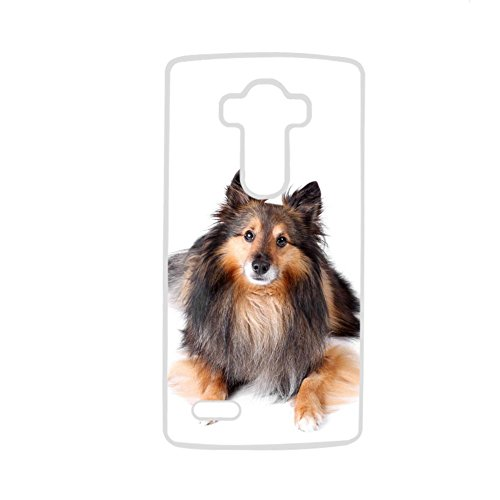 (Tyboo Men Plastic For Lg G4 With Sheltie Shetland Sheepdog Dog Shell Flip)
