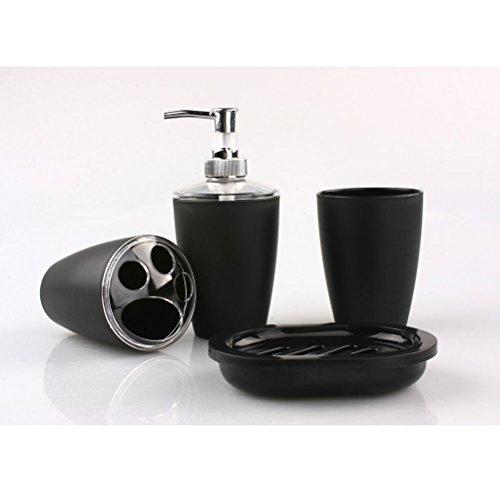 [해외]NUOLUX 4pc 플라스틱 우아한 욕실 액세서리 세트 비누 접시 ...