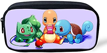 Pokemon Pikachu - Estuche para lápices de gran capacidad para la escuela, oficina, colegio, colegio, niña, tamaño grande, color Bulbasaur-1 22x11x4.5cm: Amazon.es: Oficina y papelería