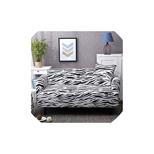 Print Zebra Universal Sofa Cover Tight Wrap Couch Covers Printed Stretch Furniture Flexible seat slipcovers Sofa loveseat Towel,13,AB - Slipcover Zebra