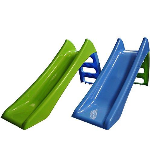 Kinderrutsche Garten Kinder Rutsche Rutschbahn Outdoor Gartenrutsche Wasser Baby (blau - grüne Leiter)