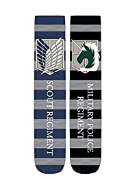 """Attack on Titan """"Scout/ Military Police Regiments"""" Unisex Crew Cut Socks: 2-Pack"""