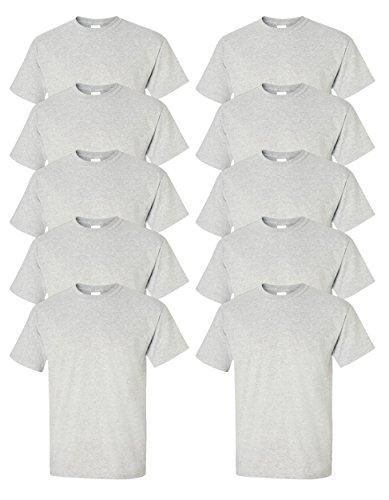 Gildan mens Ultra Cotton 6 oz. T-Shirt(G200)-ASH GREY-M-10PK