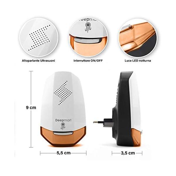 Deepmart® DM60 | Repellente ad Ultrasuoni per Topi - Scacciatopi Ultrasuoni - Repellente Antizanzare - Dissuasore per… 2 spesavip