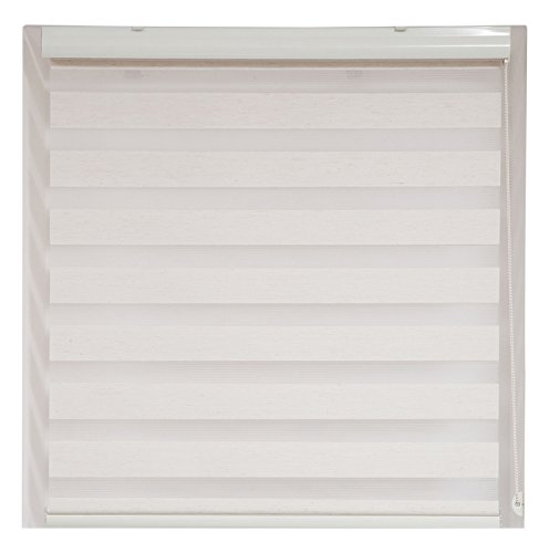 Price comparison product image Upscale Designs 20201 Off-White - Zebra Sheer Striped Roller Blind / Shade - 24 In. (W) x78 In. (L),