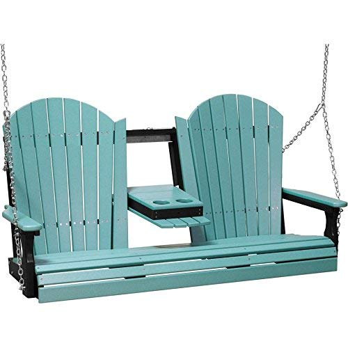 (LuxCraft Adirondack 5ft. Recycled Plastic Porch Swing )