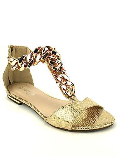 Folio Chaussures Foli CendriyonSandale Femme Dorée 4L35RAj