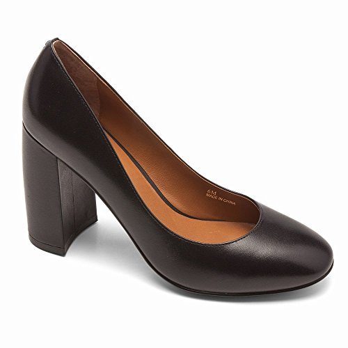 Linea Paolo Brooke Donna Pumps - Block Heeled Pump Black Vachetta