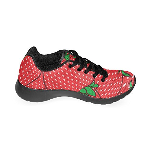 On InterestPrint Size Athletic Women's Sneakers Strawberries Casual Shoes 6 Lightweight US 15 Print Running Red F7t7rqR