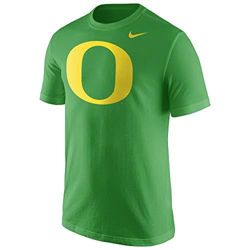 Mens Ducks Nike Oregon - Nike Oregon Ducks Apple Green Cotton Logo T-Shirt (Large)