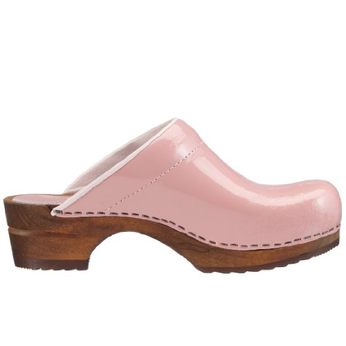 Sanita Patent open 457012-2 - Zuecos de charol para mujer Rosa (Rosa)