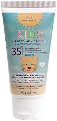 Filtro Solar Hidratante Vegano FPS 35 / Uva-PF 31.6 Infantil 60g – Biozenthi