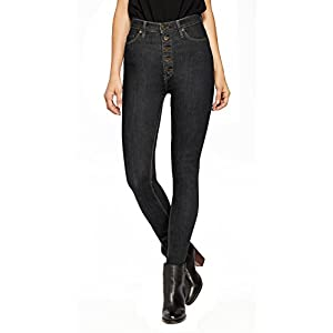HyBrid & Company Womens Super Stretch 5 Button Hi-Waist Skinny Jeans