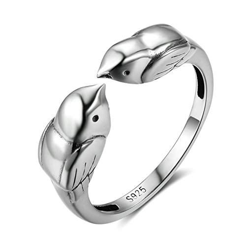 Gnzoe Offener Vogel Paar Damen Verlobungsringe Ringe S925 Silber