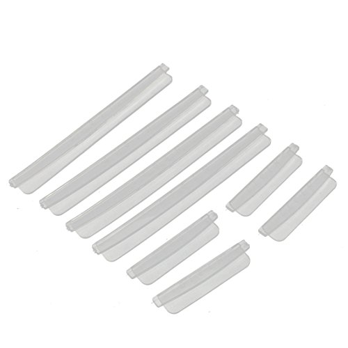uxcell a16012200ux0126 Plastic Auto Car Door Edge Scratch Strip Protector Guards 8 in 1 Clear, 8 Pack