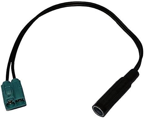 Connecteur c/âble adaptateur fiche antenne autoradio double FAKRA femelle vert DIN pour auto voiture AERZETIX