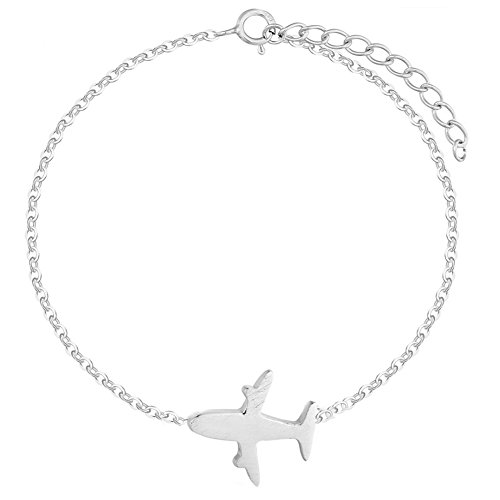 Airplane Bracelet - Helen de Lete Simple Style Airplane Fashion Bracelet