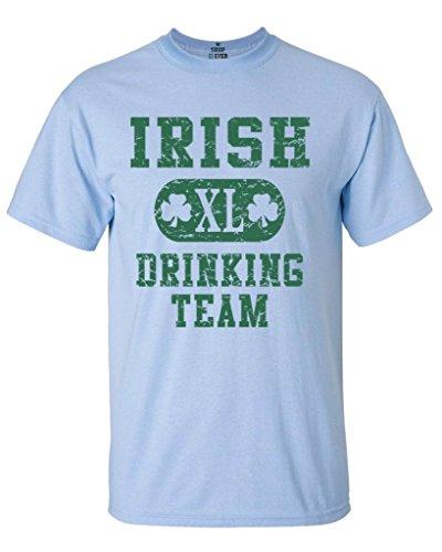 Shop4Ever Irish Drinking Team T-Shirt St. Patricks Day Shirts Medium Light Blue11375 (Team Light Drinking T-shirt)