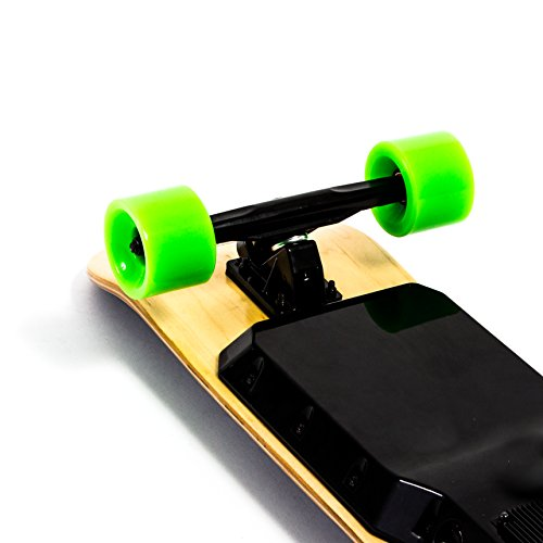 Genesis Stinger Electric Skateboard - Green Wheels