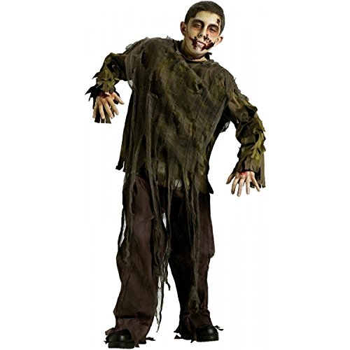 Dark Zombie Child Costume Size 8-10 (Do Your Own Halloween Makeup)