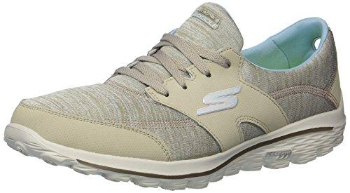 - Twinkle Toes by Skechers Skechers Performance Women's Go Walk 2 Backswing Golf-Shoes,Taupe/Blue,5.5 M US