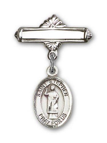 Icecarats Créatrice De Bijoux En Argent Sterling St. Stephen Le Charme Broche De Badge Martyr 1 X 5/8