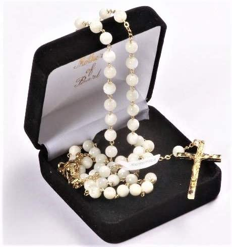 Now on sale Portland Mall Devotional GiftsUK Mother of Pearl Beads. Ros Real Rosary