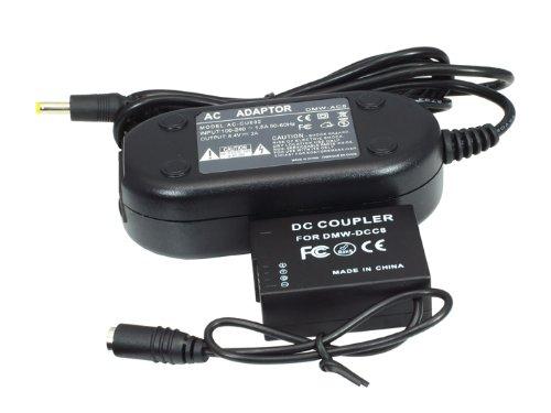 Adaptador de CA DMW-AC8 acoplador de CC para Panasonic Lumix DMC-GH2 DMW-DCC8 de Fotga