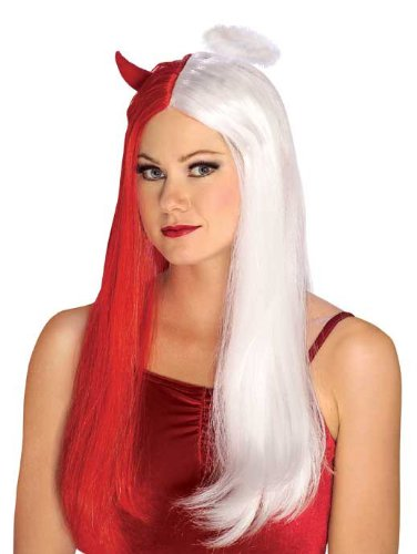 [Rubie's Costume Devil Angel Wig, Red/White, One Size] (Angel And Demon Costumes)