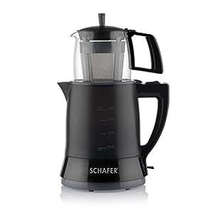 Schafer Teefan Elektrikli Çay Makinası, Siyah
