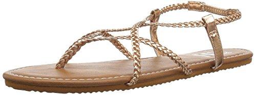 Billabong Women's Crossing Over Sandal Gold Pink 9 ()