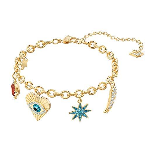 Swarovski Crystal Lucky Goddess Charms Bracelet