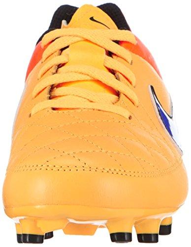 Nike Tiempo Genio Leather Fg - Botas de fútbol Unisex Niños Naranja (lsr orng/prsn vlt-ttl orng-vlt 858)