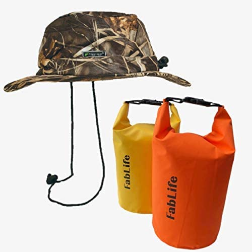 2 Waterproof Dry Bags with Free Frogg Toggs Waterproof Hat – Great for Rain, Golf, Boating or Any Other Outdoor Activity