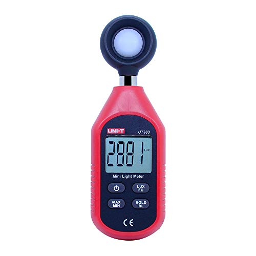 OUTEST Digital Illuminance Light Meter Handheld Mini Digital Luxmeter Photometer Lux Test With 199999 ()