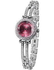 Time100 Women Quartz Bracelet Watch Fashion Diamond Alloy Plating Case&Band Watches for Lidies/Girl