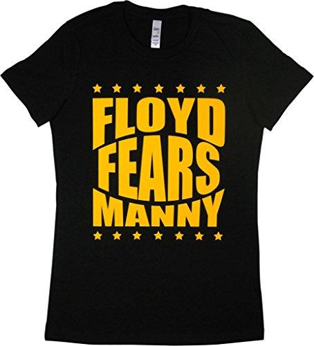 RTGraphics Women's Floyd Fears Manny T-Shirt Medium Black