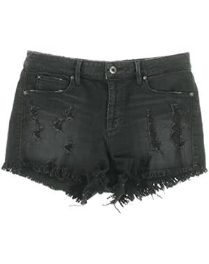 Guess Womens Destroyed Denim Cutoff Shorts