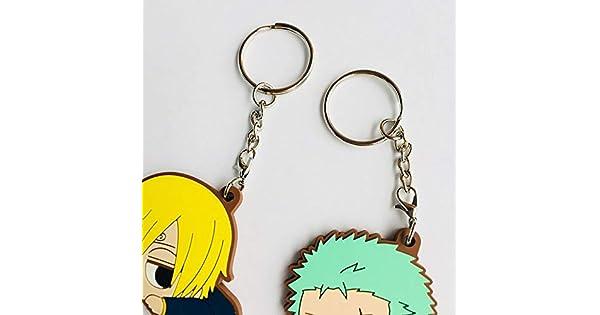Amazon.com: Llavero de una pieza de anime Luffy Zoro Sanji ...