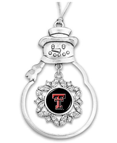 FTH 48584 Texas Tech Red Raiders Snowman Ornament with Rhinestones